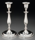 Silver Holloware, British:Holloware, A Pair of Matthew Boulton George III Weighted Silver Candlesticks,Birmingham, England, circa 1810. Marks: (lion passant), (...(Total: 2 Items)