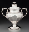 Silver & Vertu:Hollowware, A Lincoln & Reed Coin Silver Covered Sugar Bowl, Boston, Massachusetts, circa 1838-1848. Marks: Lincoln & Reed, BOSTON, Pu...