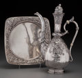 Silver Holloware, American:Coffee Pots, A Gorham Silver Coffee Pot and Underplate with Indo-Persian Motifs,Providence, Rhode Island, circa 1886-1887. Marks to coff... (Total:2 Items)