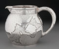 Silver Holloware, American:Pitchers, A George Shiebler Aesthetic Movement Hand Hammered Silver Pitcher,New York, New York, circa 1885. Marks: (winged S), STER...