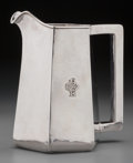 Silver Holloware, American:Pitchers, A Kalo Shops Silver Hexagonal Pitcher, Chicago, Illinois & NewYork, New York, circa 1915. Marks: STERLING, HANDWROUGHTAT...