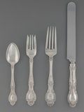 Silver Flatware, American:Tiffany, A Twenty-Four Piece Tiffany & Co. Richelieu PatternSilver Service for Six, New York, New York, designed 1892. M...(Total: 6 Items)