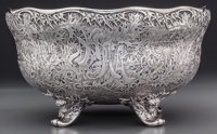 A Historic Whiting Mfg. Co Acid-Etched Silver Trophy Bowl for the National Horse Show Association of America, New Yor