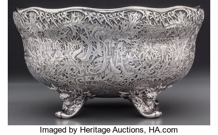 A Historic Whiting Mfg. Co Acid-Etched Silver Trophy Bowl for the National Horse Show Association of America, New York, New ...