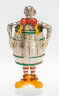Silver Smalls:Other , A Tiffany & Co. Silver and Enamel Circus Clown in a Barrel,Designed by Gene Moore, New York, New York, circa 1990. Marks: ...