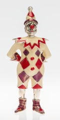 Silver Smalls, A Tiffany & Co. Silver and Enamel Circus Clown, Designed byGene Moore, New York, New York, circa 1990. Marks: TIFFANY &C...