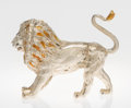 Silver Smalls, A Tiffany & Co. Silver and Enamel Circus Lion, Designed by GeneMoore, New York, New York, circa 1990. Marks: TIFFANY &CO...
