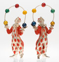Silver Smalls:Other , A Pair of Tiffany & Co. Silver and Enamel Circus JugglingClowns, Designed by Gene Moore, New York, New York, circa 1990.Ma... (Total: 2 Items)