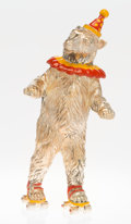 Silver & Vertu:Smalls & Jewelry, A Tiffany & Co. Silver and Enamel Circus Bear on Roller Skates, Designed by Gene Moore, New York, New York, circa 1990. Mark...
