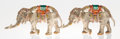 Silver Smalls:Other , A Pair of Tiffany & Co. Silver and Enamel Circus Elephants,Designed by Gene Moore, New York, New York, circa 1990. Marks: ...(Total: 2 Items)