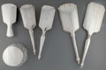 Silver Holloware, American:Vanity, Six Webster Silver Vanity Items, North Attleboro, Massachusetts, circa 1930. Marks: STERLING, WEBSTER, (W-C-arrow). 14-1... (Total: 6 Items)