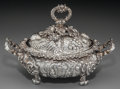 Silver Holloware, British:Holloware, A Small Edward Farrell George IV Silver Covered Vegetable, London,England, circa 1823. Marks: (lion passant), (leopard), (d...