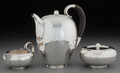Silver Holloware, Continental:Holloware, A Three-Piece Georg Jensen 787 Pattern Silver Coffee Set,Designed by Johan Rohde, Copenhagen, Denmark, designed... (Total: 3Items)