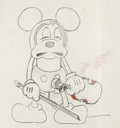 Animation Art:Production Drawing, The Jazz Fool Mickey Mouse Animation Drawing (Walt Disney,1929)....
