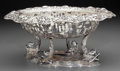 Silver Holloware, Continental:Holloware, A German Silver Footed Center Bowl with Glass Liner, late19th/early 20th century. Marks: GERMANY, 800. 4-5/8 h x10-3/4...