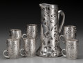 Silver Holloware, American, A Seven-Piece Alvin Silver Overlay Glass Beverage Set, Providence,Rhode Island, circa 1900. Marks: A, 925-1000, FINE, PA...(Total: 7 Items)