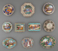 Silver Smalls:Other , Ten Continental Silver and Enameled Compacts, first half 20thcentury. Marks: (various). 3-1/2 inches high x 3-3/8 inches wi...(Total: 10 Items)