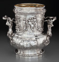 Silver Holloware, Continental:Holloware, A Hanauer Silberwaren-Manufaktur German Silver Wine Cooler afterJuste-Aurèle Meissonnier, Hanau, Germany, circa 1895. Marks...