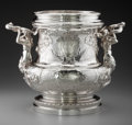 Silver Holloware, Continental:Holloware, An Important Georg Roth & Co. German Silver Wine Cooler afterJuste-Aurèle Meissonnier, Hanau, Germany, circa 1895. Marks: (...