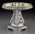 Silver & Vertu:Hollowware, A Tiffany & Co. Silver Reticulated Compote: Four Seasons, New York, New York, 1873-1891. Marks: TIFFANY & CO, 5299...