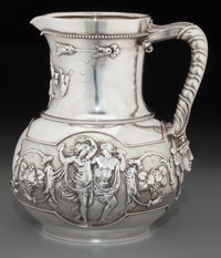 A John Chandler & Edward Moore for Tiffany & Co. Silver Wine Pitcher with Bacchanal Motif, New York, New York, c...