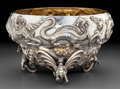 Silver Holloware, British:Holloware, A Fine Goldsmiths & Silversmiths Co. Silver Figural Punch Bowl,London, England, circa 1907. Marks: (lion passant), (leopard...