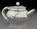 Silver Holloware, American:Tea Pots, A Tiffany & Co. Japanesque Silver Bachelor's Teapot, New York,New York, circa 1878. Marks: TIFFANY & CO, 4676 M 187,STER...