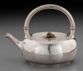 Silver Holloware, American:Tea Pots, A Gorham Silver and Mixed Metal Japanesque Teapot, Providence,Rhode Island, circa 1880. Marks: (lion-anchor-G),STERLING,...