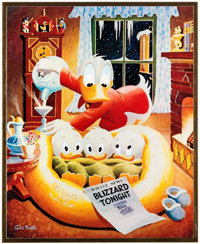 Carl Barks Blizzard Tonight Signed Gold HDL Limited Edition Miniature Lithograph Print #27/37 (Another Rainbow, 19
