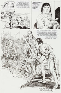 Gary Gianni Prince Valiant Sunday Comic Strip Original Art dated 8-12-10 (King Features Syndicate, 2010)