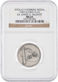 Explorers:Space Exploration, Apollo 9 Flown MS65 NGC Silver Robbins Medallion, Serial Number 132, Originally from the Personal Collection of Mission Comman...