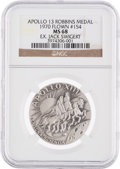 Explorers:Space Exploration, Apollo 13 Flown MS68 NGC Silver Robbins Medallion, Serial Number154, Originally from the Personal Collection of Mission Comma...