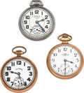 Timepieces:Pocket (post 1900), Elgin, Ball & Illinois Open Face Pocket Watches Runners. ... (Total: 3 Items)
