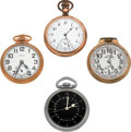 Timepieces:Pocket (post 1900), Four Hamilton Open Face Pocket Watches Runners. ... (Total: 4Items)