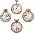 Timepieces:Pocket (post 1900), Two Ball's, Santa Fe Special & Howard Pocket Watches Runners.... (Total: 4 Items)