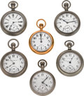 Timepieces:Pocket (post 1900), A Lot Of Six 18 Size Pocket Watches Runners. ... (Total: 6 Items)