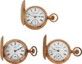 Timepieces:Pocket (post 1900), Two NY Standards & Seth Thomas Hunter Case Pocket Watches. ...(Total: 3 Items)