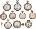 Timepieces:Pocket (post 1900), A Lot Of Ten Pocket Watches. ... (Total: 11 Items)