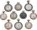 Timepieces:Pocket (post 1900), A Lot Of Ten Pocket Watches. ... (Total: 10 Items)