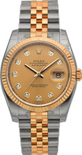 Timepieces:Wristwatch, Rolex Unused Ref. 116233 Diamond Dial Two Tone Oyster Perpetual Datejust. ...
