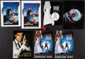 """Movie Posters:James Bond, The Living Daylights & Other Lot (UIP, 1987). Uncut British Pressbooks (3) (Multiple Pages, 8.25"""" X 11.75""""), British Program... (Total: 8 Items)"""