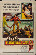 "Movie Posters:Exploitation, Rumble on the Docks & Others Lot (Columbia, 1956). One Sheets(22) (27"" X 41""), Half Sheets (2) (22"" X 28""), & Video Poster... (Total: 25 Items)"