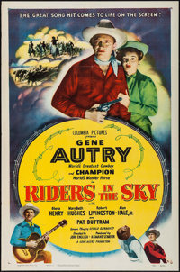 """Riders in the Sky & Other Lot (Columbia, 1950). One Sheets (2) (27"""" X 41""""). Western. ... (Total: 2 Ite..."""