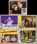 "Movie Posters:Horror, Face of Marble & Others Lot (Monogram, 1946). Title Lobby Card & Lobby Cads (5) (11"" X 14""). Horror.. ... (Total: 5 Items)"