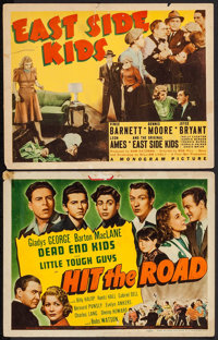 "Hit the Road & Others Lot (Universal, 1941). Title Lobby Cards (2) (11"" X 14"") & Uncut Pressbo..."