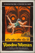 "Movie Posters:Horror, Voodoo Woman (American International, 1957). One Sheet (27"" X 41"").Horror.. ..."
