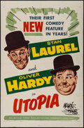 """Movie Posters:Comedy, Utopia (Exploitation Productions, 1954). One Sheet (27"""" X 41"""").Comedy.. ..."""