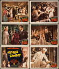 "Revenge of the Zombies (Monogram, 1943). Title Lobby Card, Lobby Cards (5) (11"" X 14""), & Uncut Pressb..."