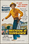 """Movie Posters:Western, Decision at Sundown & Other Lot (Columbia, 1957). One Sheets (2) (27"""" X 41""""). Western.. ... (Total: 2 Items)"""
