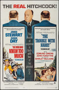 "Movie Posters:Hitchcock, The Trouble with Harry/ The Man Who Knew Too Much Combo (Paramount,R-1963). One Sheet (27"" X 41""). Hitchcock.. ..."